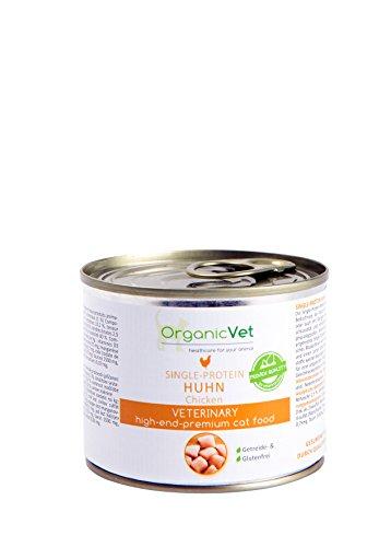 OrganicVet katten nat voer van afzonderlijke eiwitten kip, 6-pack (6 x 200 g)