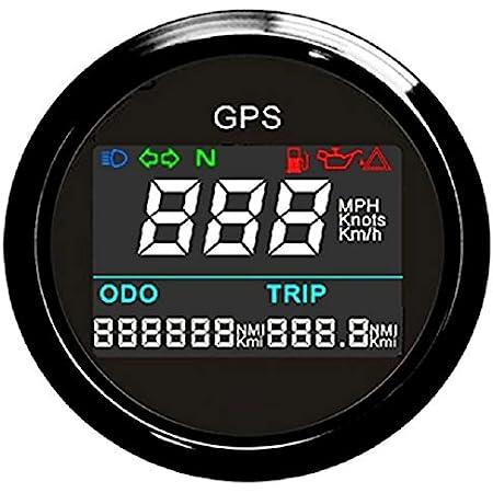 Eling Digital Gps Tachometer Einstellbare Kilometerzähler Für Boot Yacht Motorrad Auto 2 Zoll 52mm Auto
