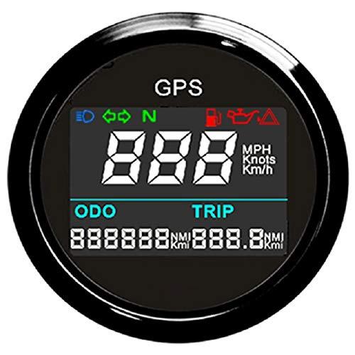 "ELING Universal Digital GPS Speedometer Trip Meter Odometer Adjustable for Boat Yacht Motorcycle Car 2"" 12V 24V"