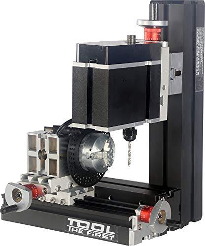 MOZUSA Mini Drechseln Bohrmaschine Mit Trennplatte Große Energie Galvani Mini-Metall-Sechs Wellen Bohr- und Fräsmaschine Drechseldrehmaschine Industriezubehör