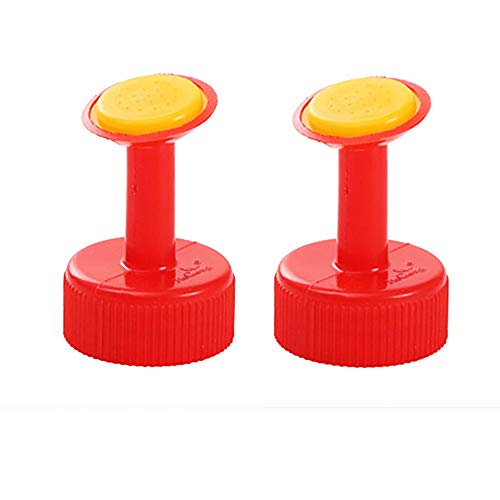 jieGorge 2PC Bottle Top Watering Garden Plant Sprinkler Water Seed Seedlings Irrigation, Patio, Lawn & Garden, Products for Xmas Day (Red)