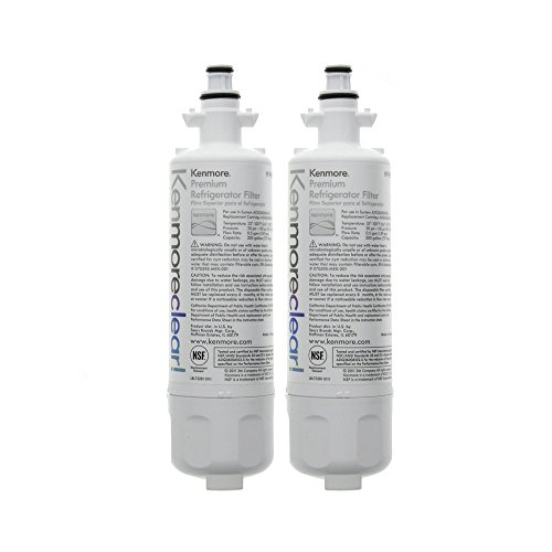 Kenmore 9690 Refrigerator Water Filter, Clear, 2-Pack