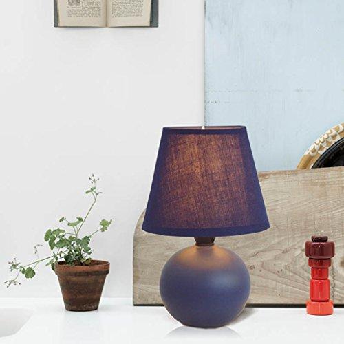 Céramique Lampe de table Chambre à coucher Lampe de chevet chaude ( couleur : Bleu )
