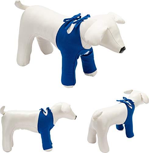 Bendana Postoperativer Anzug für Hunde und Katzen, schützt Wunden und Verbände und lässt dem Tier Seine Bewegungsfreiheit. Modell 061 - Schutz der Vorderbeine mit Schnüren (M)