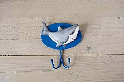 Borders Unlimited Fish 'N Sharks Towel or Coat/Bookbag Wall Hook, Multicolor
