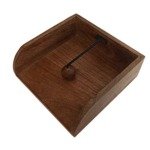 BHAVATU - Portatovaglioli rustici in legno, per tavoli da cucina, piani da lavoro, interni ed esterni, picnic, ristoranti, caffè, decorazione per la casa vintage, 20,32 x 20,32 x 7,11 cm