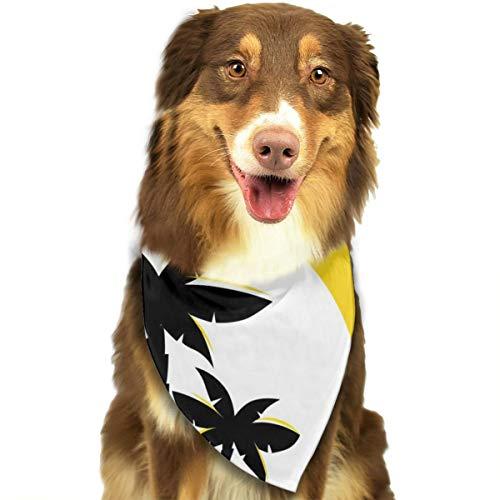 N/B Bbgsw gele woestijn zonsopgang aangepaste hond hoofddoek felgekleurde sjaals schattige driehoek slabbetjes accessoires voor huisdier honden