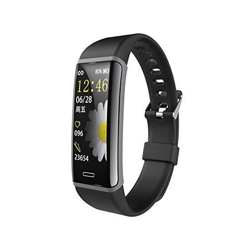 YNLRY Monitor de frecuencia cardíaca impermeable para monitoreo de la presión arterial, deportivo, pulsera inteligente para seguimiento de la salud, pulsera deportiva (color negro)