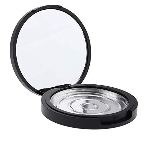 N-K 20 grammes de cosmétiques vide petite boîte vide maquillage poudre étui compact et portable - noir + argent - hauteur 17 mm très pratique et populaire