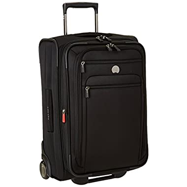 Delsey Luggage Helium Sky 2.0, Carry On Luggage, Spinner Suitcase, Black