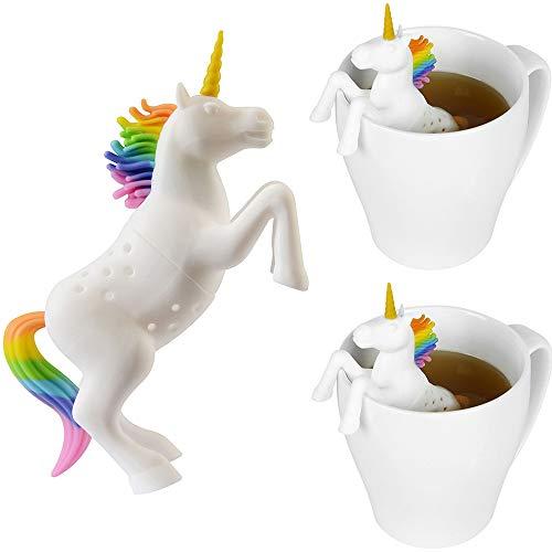 Konrisa Filtri e colini da tè Infusore Silicone Unicorno Animal Filtro Infusore per tè Tea...