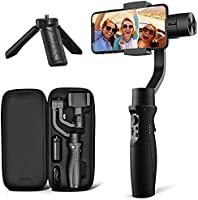 3-Axis Gimbal Stabilizer for iPhone 12 11 PRO MAX X XR XS Smartphone Vlog Youtuber Live Video Record with Sport Inception...