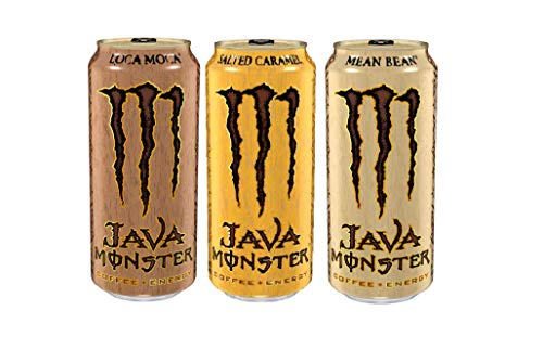 Java Monster, Coffee + Energy Drink, 3 Flavor Variety Pack 15 Ounce (Pack of 12)