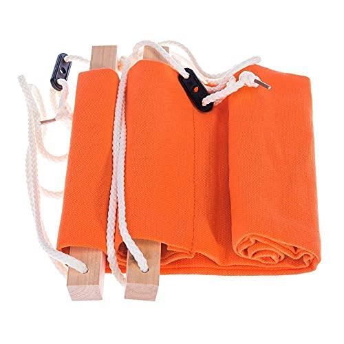 Hamaca de camping, portátil, ajustable, para oficina, pies, para oficina, hogar, oficina, reposapiés, portátil, cómoda, para piernas relajantes, color naranja