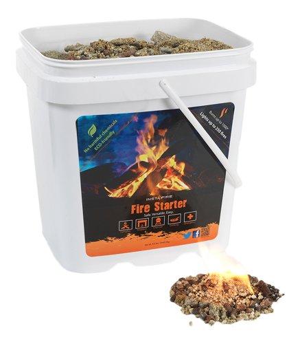 InstaFire Eco-Friendly Granulated Bulk Fire Starter Factory Seconds, 2-Gallon Bucket