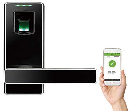 Cerradura Inteligente & Biométrica Keyless con cerrojo de doble cilindro - ZKTeco ML10DB - Smart lock con Huella Dactilar - Bluetooth - Smartphone App - Ideal para Casa, Hoteles, Gym, Dormitorios.