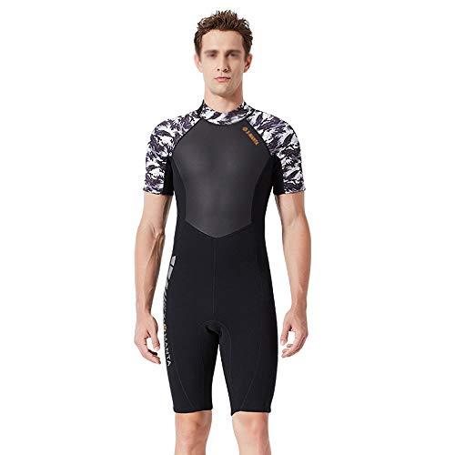 Mannen Wetsuit, duikpak heren 1,5 mm Siamese korte mouwen neopreen pak surf warm zwembroek aanbieding voor beginners en sportfans