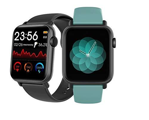 Smartwatch Iphone Android Original QS19 Tela Touch 44mm Temperatura Pressão Calorias Notificações + Original com Nota Fiscal + Troca Pulseira + Envio Já