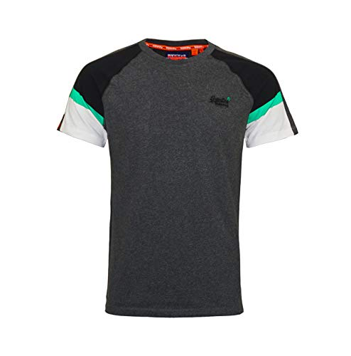 Superdry T-Shirt Rundhals OL Crafted Casual Baseball M1000083A Graphite Dark Marl (XXXL)
