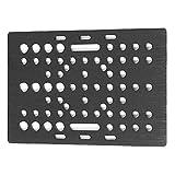 Sanfiyya De Aluminio V-Slot pórtico Placa 20-80mm Impresora 3D pórtico Placa Junta de guía Lineal de la máquina fresadora CNC Máquina Universal Negro