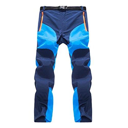 Beautyrain pantalon d'escalade Pantalon de randonnée Coupe vent Séchage rapide Thermique pour camping d'hiver Hommes Femmes