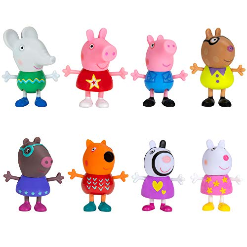 Peppa Pig and Friends Perfect Day – 8 Figure Pack, Includes Character Toy Figures Like George, Freddy Fox, Molly Mole, Edmund Elephant, Pedro Pony, Suzy Sheep, Zoe Zebra Figure – Amazon Exclusive
