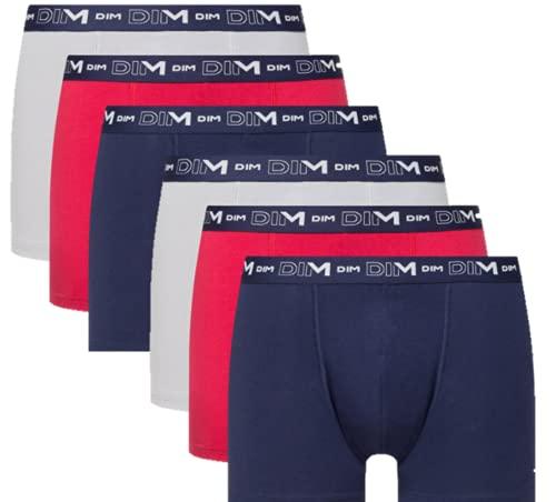 Dim Boxer Brief Cotton Stretch Boxer Brief, Denim Blue / Topaz Red / Steel, XXL, Herren