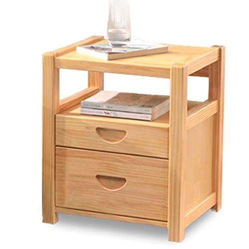 FENXIXI Mesita de noche de madera maciza simple moderna mesa de noche, mini armario multifuncional mesita de noche