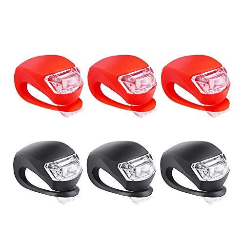 LED-Fahrradlichter, Notfall-Warnleuchte, für vorne und hinten, 6 Stück