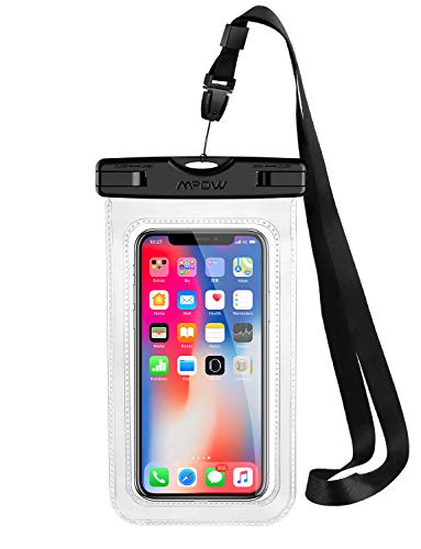 Mpow Funda Impermeable Movíl, Bolsa Impermeable Movil Transparente, 6.5in para iPhone XS/X/XR/8/8 Plus/Galaxy S10/S9/S8/Mate 20/P30/P20, IPX8 Certificado Impermeable, Funda Playa para Movíl Universal
