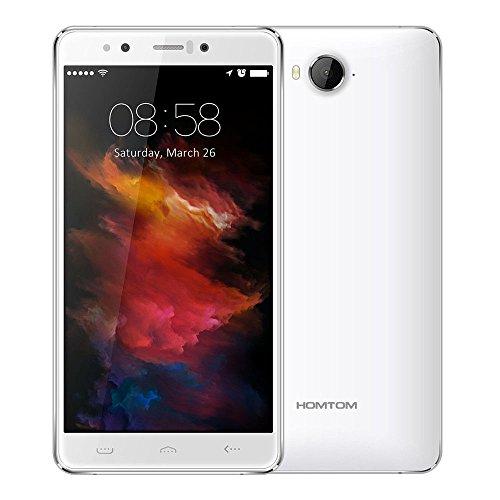 HOMTOM HT10-5,5 Zoll Iriserkennung (FHD 1080P) MTK6797 (Helio X20) Deca Core-4GB + 32GB Android 6.0 globalen 4G-Smartphone - Weiß
