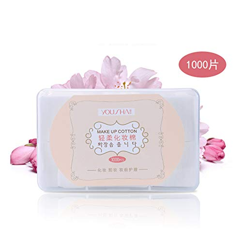 Absir 1000 Pcs/box Cosmetic Cotton Pads Remove Makeup Wipes Soft Eyeshadow Mascara Remover Face Cleansing Paper