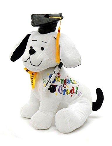 "Graduation Autograph Dog With Pen, Black Hat - Congrats Grad! - 10.5""H- Medium - Hound Dog Gift Toys for Graduate Student Party (10.5""H- Medium)"