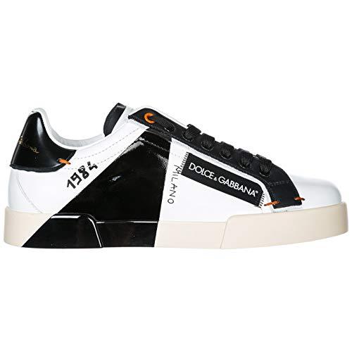 Dolce & Gabbana Herrenschuhe Herren Leder Schuhe Sneakers Portofino Weiß EU 40 CS1613AU4518B956