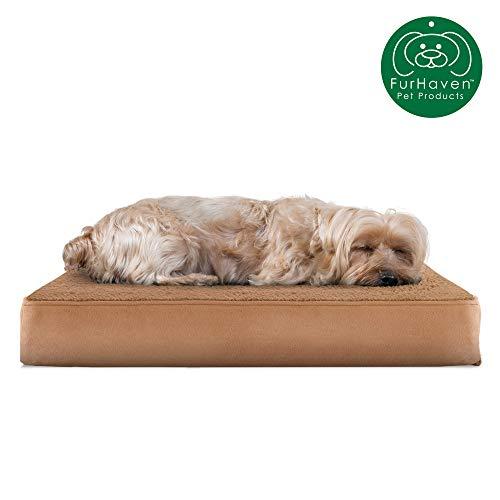 Furhaven Pet Dog Bed   Deluxe Orthopedic Mattress Pet Bed