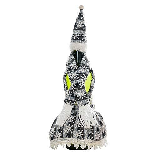Amosfun Weinflaschenüberzug für Weihnachten, Weinflaschendekoration, mit Hut für hässliche Weihnachts-Pullover, Party-Dekorationen 1pc Picture 2