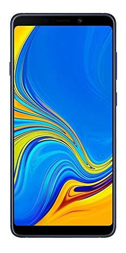 Samsung Galaxy A9 2018 (128GB, 6GB RAM) 6.3' Display, Quad Camera, 4G LTE Dual SIM GSM Factory Unlocked, International Version - No Warranty (Lemonade Blue)