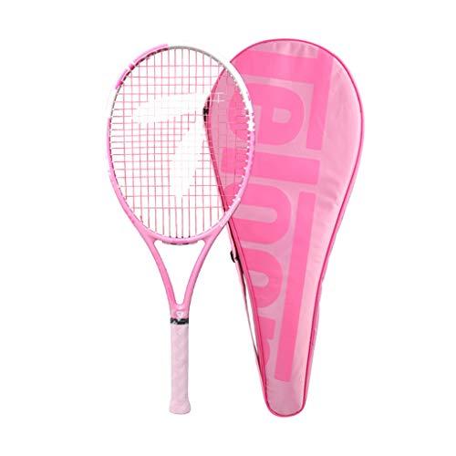 Sports Equipment Carbon Tennisschläger nur für Mädchen, Anfänger Damen Single Anfänger Anzug mit Line Tennis Pink