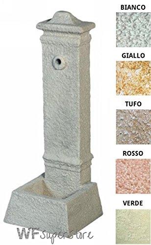 WUEFFE S.R.L. Fontana Anticata in Pietra ricostruita Parigi - fontanella Esterno Giardino (Bianco-Nero)