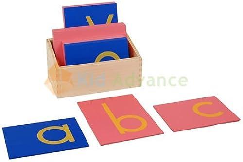 Montessori Faibleer Case Sandpaper Letters w  Box by Enfant Advance