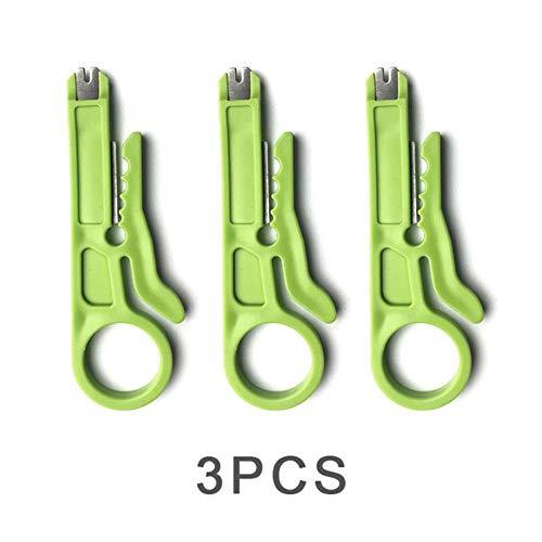 CCON Neue 3-teilige Mini-Crimperzange Tragbares Abisoliermesser Kabelabisolier-Drahtschneidewerkzeuge Cut Line Pocket Multitool-Crimpwerkzeug, 3 STK