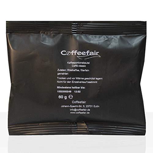 Coffeefair Filterkaffee 80 x 60g gemahlener Röstkaffee in Kannenportion