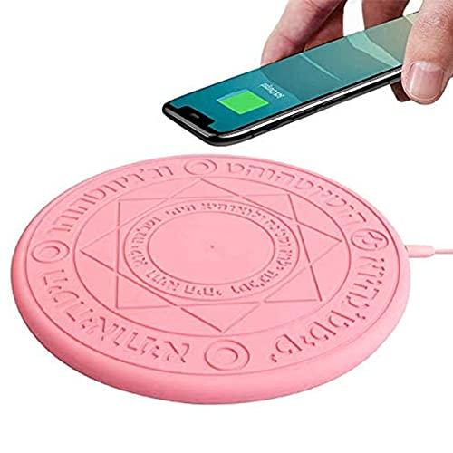 XYEJL Cargador Inalámbrico, Magic Array Cargador Inalámbrico, 10 W Cargador Inalámbrico Estación De Carga Inductiva Inalámbrica Estación De Carga Rápida, para iPhone Samsung Huawei