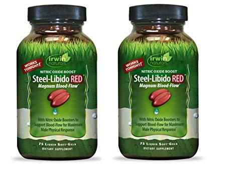 Irwin Naturals Steel Libido Red - 75 Softgels (Pack of 2)
