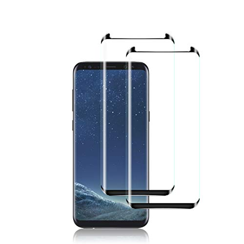 Galaxy S8 Screen Protector by YEYEBF, [2 Pack] Full Coverage Tempered Glass Screen Protector [3D Glass] [Bubble-Free] [Anti-Glare] Screen Protector Glass for Samsung Galaxy S8