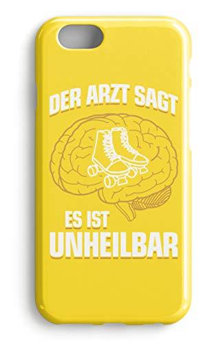 shirt-o-magic Handyhülle Rollschuhe: .es ist unheilbar - Case -iPhone 7-Gelb