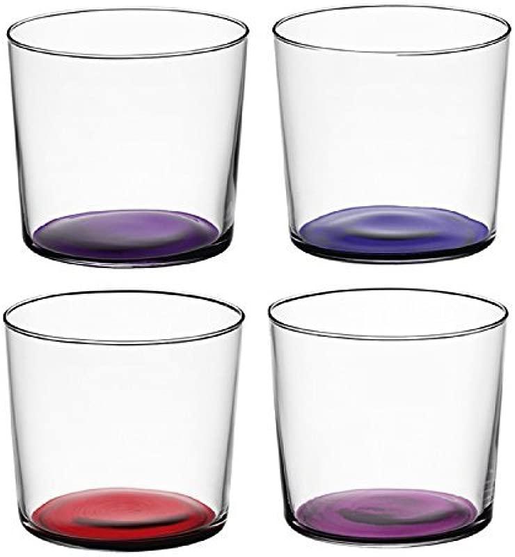 LSA International Berry Assorted Coro Tumbler 4 Pack 10 5 Fl Oz Purple