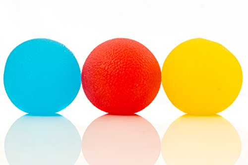 Stress Relief Balls (3-pack) - Tear-Resistant, Non-toxic, BPA/Phthalate/Latex-Free (Colors as Shown) -...