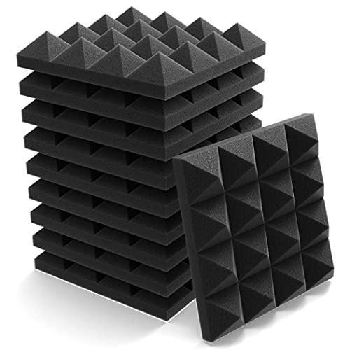 吸音材 遮音材 25x25x5cm 26ピース 難燃 消音 吸音材質 ウレタンフォーム 吸音対策 騒音軽減 防湿 遮音シート レコーディングスタジオ ピアノ練習室 オフィス カラオケ 執務室 26枚入
