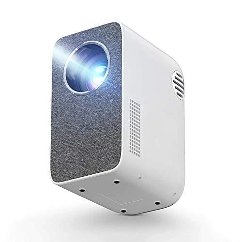 Mini proyector HD, 3500 lúmenes, ± 40 ° Keystone WiFi Mini proyector multipantalla para videos 1080P Proyector de cine en casa 3D, para el hogar, la oficina, la fiesta, el campamento.